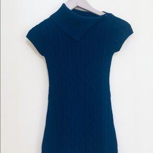 Girl's Ralph Lauren Navy Blue Sweater Dress